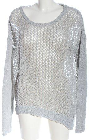 Opus Pullover all'uncinetto grigio chiaro puntinato stile casual