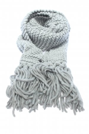 Opus Crochet Scarf light grey cable stitch casual look