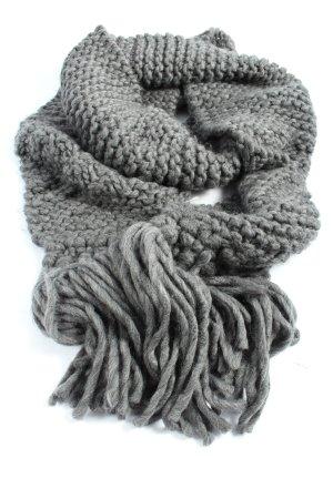 Opus Crochet Scarf light grey casual look