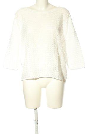 Opus Gehaakt shirt wit Webpatroon zakelijke stijl