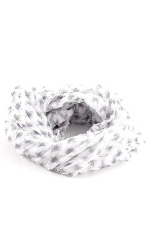 Opus Neckerchief white-light grey allover print casual look