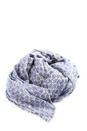 Opus Pañoleta azul-blanco estampado repetido sobre toda la superficie