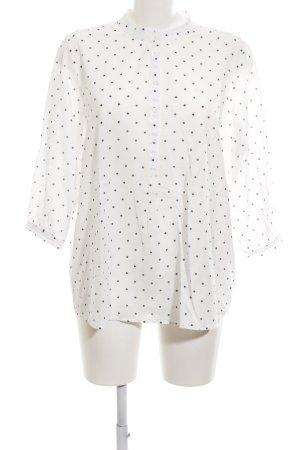 Opus Hemd-Bluse weiß-schwarz Punktemuster Casual-Look