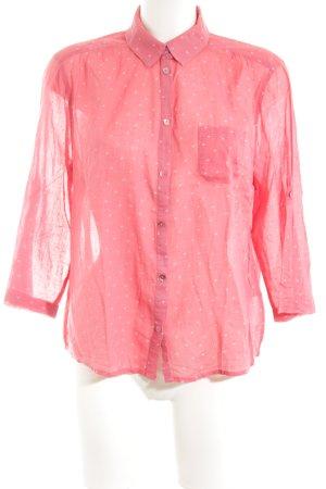 Opus Hemd-Bluse pink-weiß Punktemuster Business-Look
