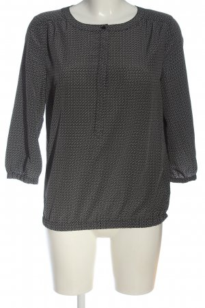 Opus Shirt Blouse black-white allover print casual look