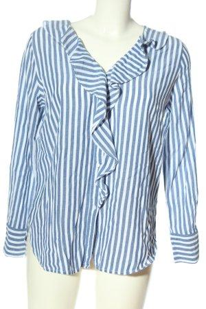 Opus Hemd-Bluse blau-weiß Allover-Druck Business-Look