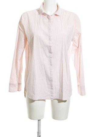 Opus Hemd-Bluse weiß-nude Streifenmuster Business-Look