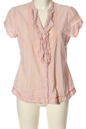 Opus Hemd-Bluse pink-weiß Karomuster Casual-Look