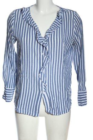 Opus Hemd-Bluse blau-weiß Streifenmuster Casual-Look