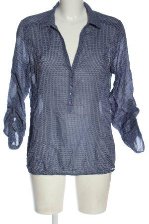 Opus Hemd-Bluse blau-weiß Business-Look