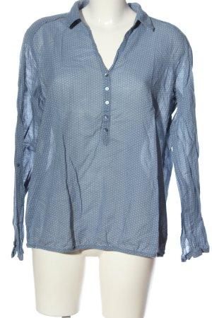 Opus Hemd-Bluse blau Allover-Druck Casual-Look