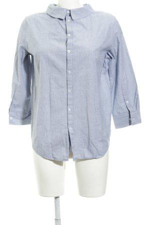 Opus Hemd-Bluse weiß-dunkelblau Webmuster Casual-Look