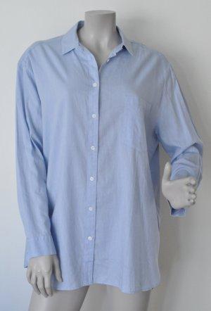 Opus Hemdbluse Boyfriend Bluse FELANA SP Baumwolle blau Gr. 38 UNGETRAGEN mit Etikett