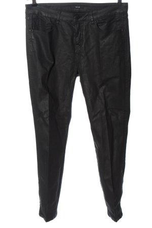 Opus High Waist Trousers black casual look