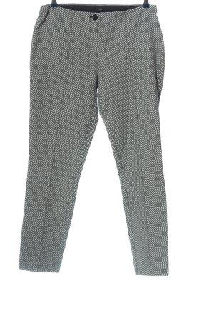 Opus High-Waist Hose schwarz-weiß Allover-Druck Business-Look