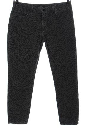 Opus Slim Jeans light grey-black leopard pattern casual look