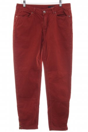 Opus Hoge taille jeans roodbruin casual uitstraling