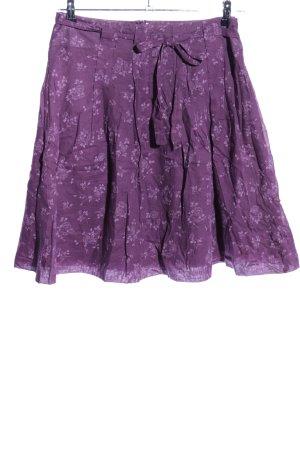 Opus Jupe taille haute violet motif de fleur style décontracté