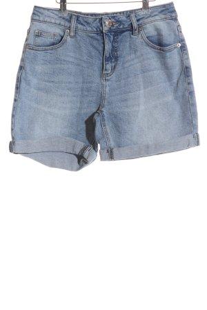 Opus High-Waist-Shorts himmelblau-dunkelblau Casual-Look