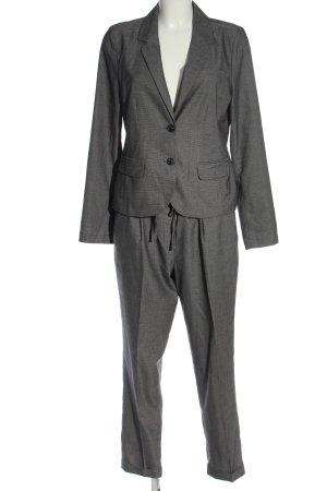 Opus Tailleur-pantalon gris clair moucheté style d'affaires