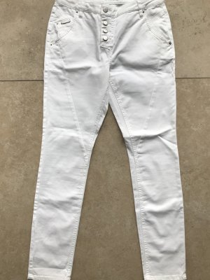 Opus Hoge taille jeans wit