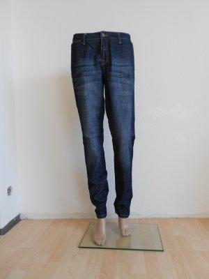 Opus Boyfriend jeans blauw