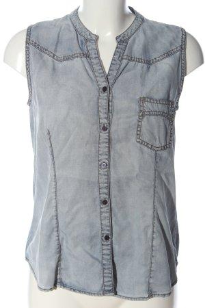 Opus Bluzka jeansowa jasnoszary W stylu casual