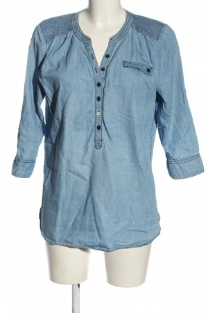 Opus Jeansbluse blau Casual-Look