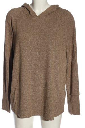 Opus Pull à capuche brun moucheté style décontracté