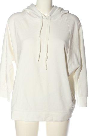 Opus Hooded Sweatshirt white casual look