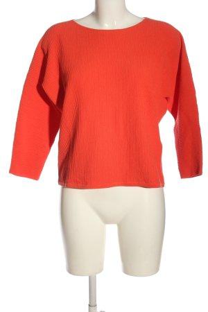 Opus Kimono Pullover rot Zopfmuster Casual-Look