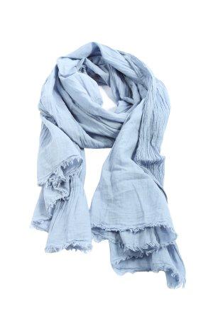 Opus Crinkle Scarf blue casual look