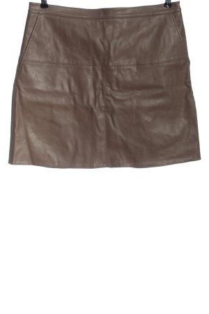 Opus Jupe en cuir synthétique brun style décontracté