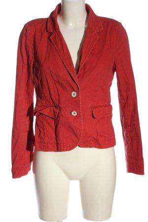 Opus Korte blazer rood zakelijke stijl