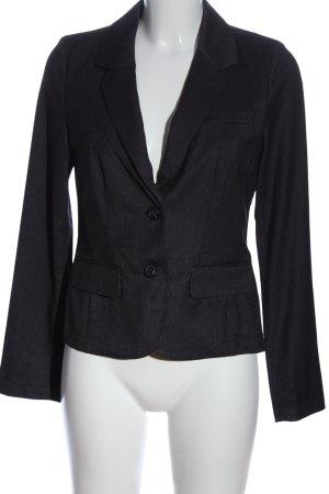Opus Korte blazer zwart zakelijke stijl