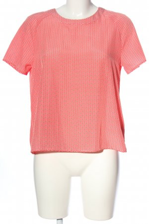 Opus Kurzarm-Bluse rot-weiß Allover-Druck Casual-Look
