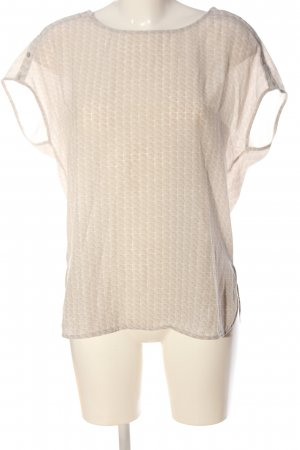 Opus Kurzarm-Bluse creme abstraktes Muster Casual-Look