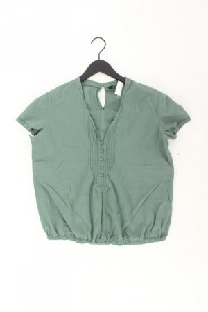 Opus Short Sleeved Blouse olive green cotton