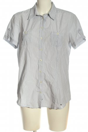 Opus Short Sleeve Shirt white-black striped pattern casual look