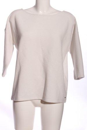 Opus Sweter z krótkim rękawem biały W stylu biznesowym