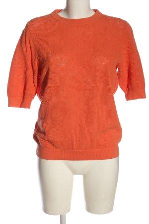 Opus Maglione a maniche corte arancione chiaro stampa integrale stile casual