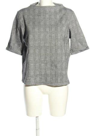 Opus Jersey de manga corta gris claro estampado a cuadros look casual