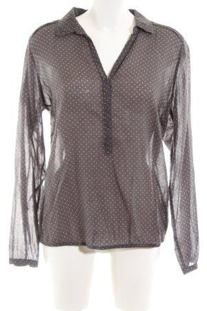 Opus Langarm-Bluse bronzefarben-wollweiß Allover-Druck Business-Look