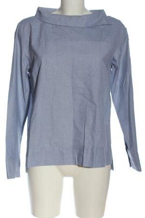 Opus Langarm-Bluse blau Business-Look