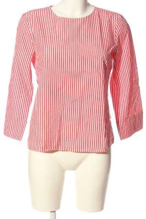 Opus Langarm-Bluse weiß-rot Streifenmuster Casual-Look