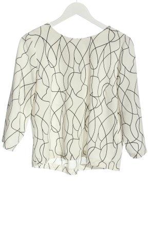 Opus Camicetta a maniche lunghe bianco motivo astratto stile professionale