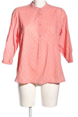 Opus Langarm-Bluse pink-creme Punktemuster Casual-Look
