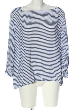 Opus Langarm-Bluse blau-weiß Streifenmuster Casual-Look