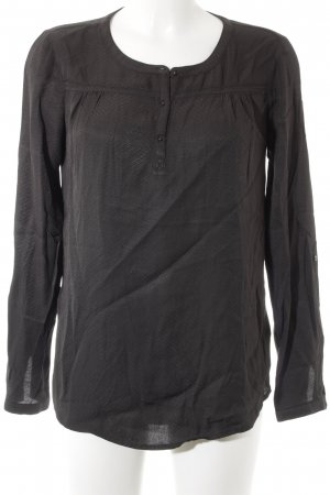 Opus Langarm-Bluse anthrazit abstraktes Muster Business-Look