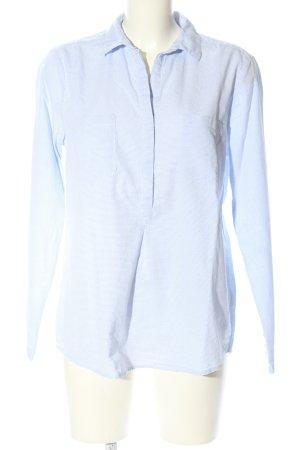 Opus Langarm-Bluse blau Punktemuster Business-Look